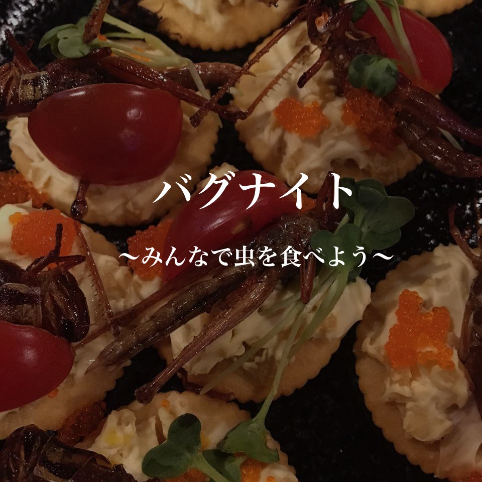 【終了】6/4 バグナイト2~みんなで虫を食べよう!~